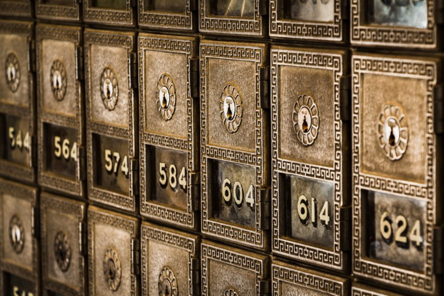 Photo fo post office boxes