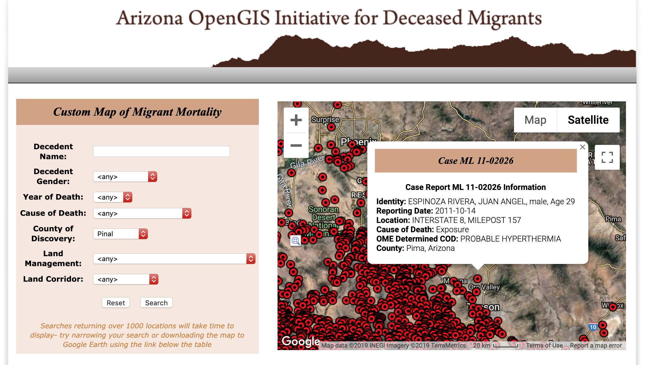 Arizona GIS Map