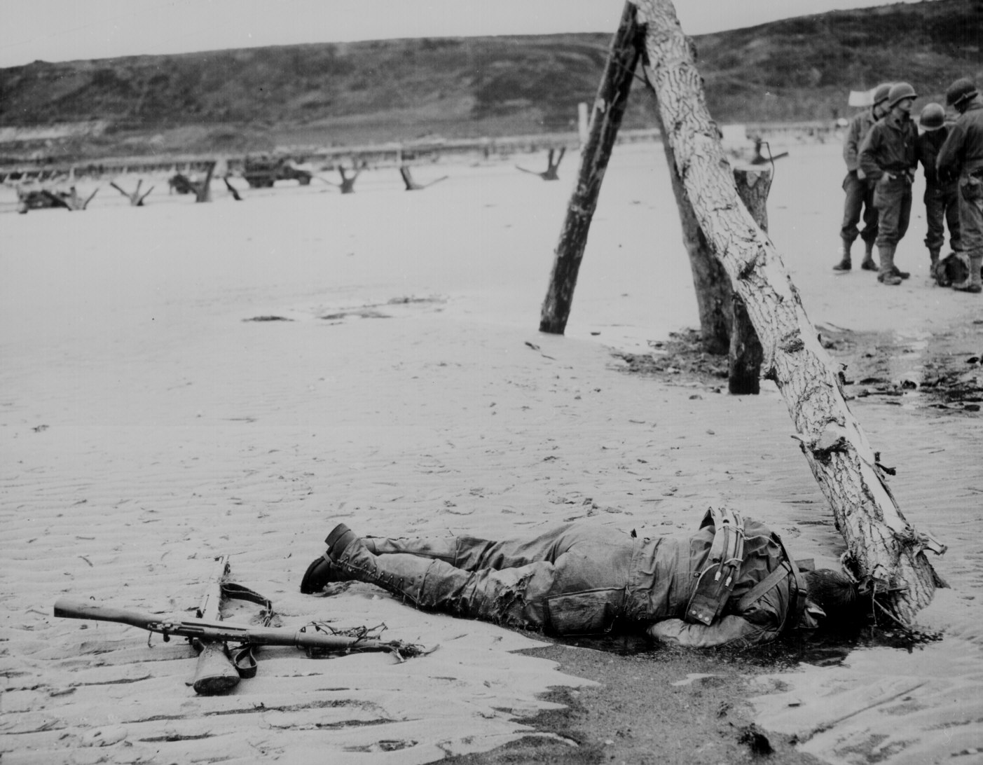 Dead American on the Beach